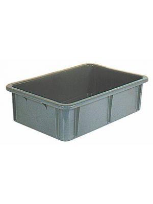 Stapelbehälter, HxLxB 165x600x400mm, 30l, PE, grau, Wände geschlossen